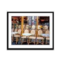 Cafe in Paris Framed Panel Print