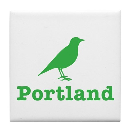 Portland Bird Art Tile Coaster