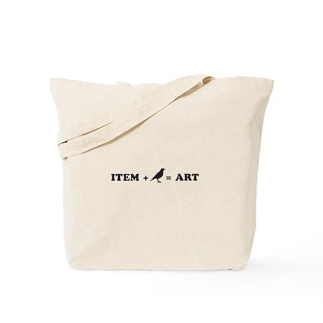 item + bird = art Tote Bag