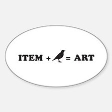 item + bird = art Sticker (Oval)