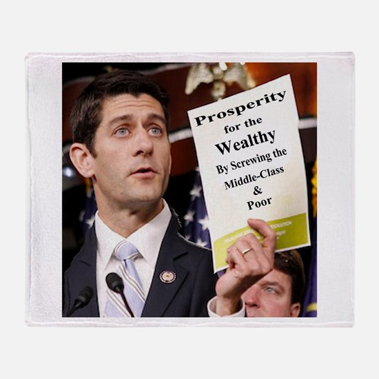 Real Paul Ryan Plan Throw Blanket