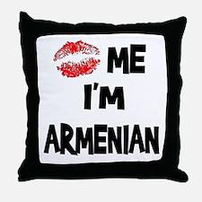 Kiss Me I'm Armenian Throw Pillow