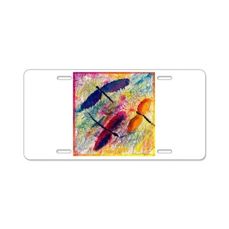 Dragonflies Aluminum License Plate