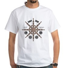 White LOST Frozen Wheel T-Shirt