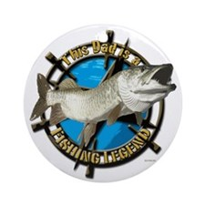 Dad the fishing legend Ornament (Round)