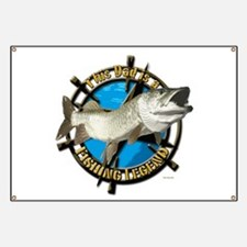 Dad the fishing legend Banner