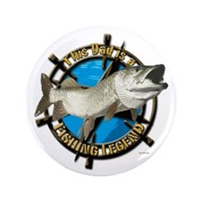 """Dad the fishing legend 3.5"""" Button"""