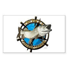 Dad the fishing legend Decal