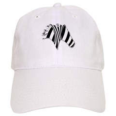Zebra Swirl Art Baseball Cap