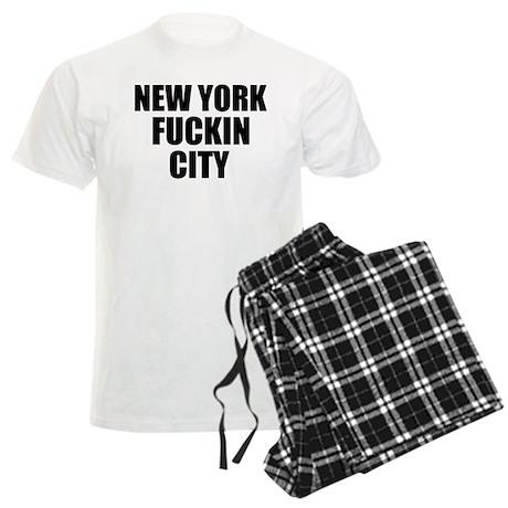 New York Fuckin City Men's Light Pajamas