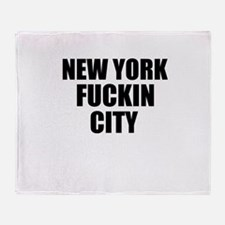 New York Fuckin City Throw Blanket
