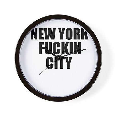 New York Fuckin City Wall Clock