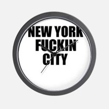 New York Fuckin City Wall Clock