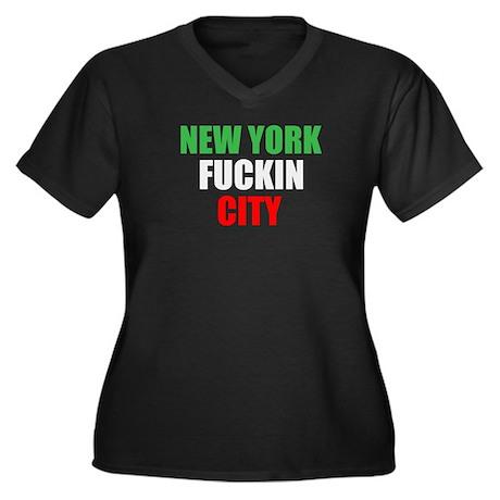 New York Fuckin City Italy Women's Plus Size V-Nec