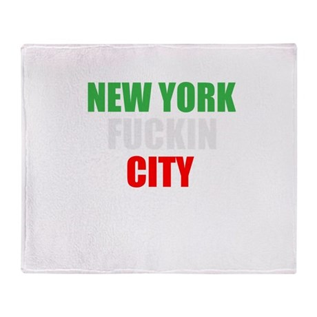 New York Fuckin City Italy Throw Blanket
