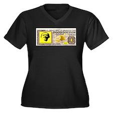 BUYING VOTES Women's Plus Size V-Neck Dark T-Shirt
