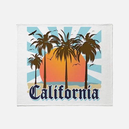 Vintage California Throw Blanket