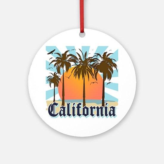 Vintage California Ornament (Round)