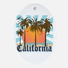 Vintage California Ornament (Oval)