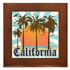 Vintage California Framed Tile