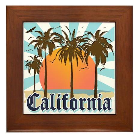 Vintage California Framed Tile