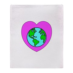 Love Our Planet Throw Blanket