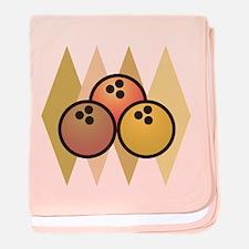Vintage Bowling Balls baby blanket