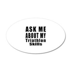 Ask About My Triathlon Skill Wall Decal