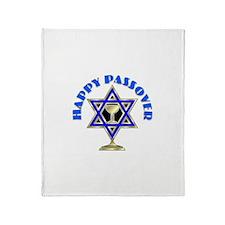 Jewish Star Passover Throw Blanket