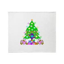 Christmas and Hanukkah Throw Blanket