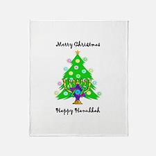 Hanukkah and Christmas Interfaith Throw Blanket
