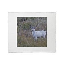 White Buck 1 Throw Blanket
