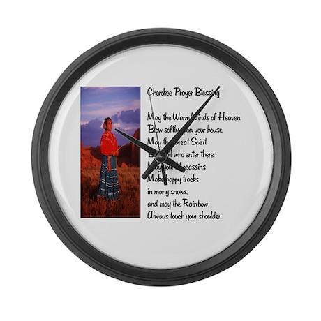 Cherokee Prayer Large Wall Clock