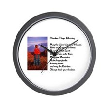 Cherokee Prayer Wall Clock