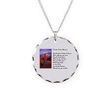 Cherokee Prayer Necklace Circle Charm