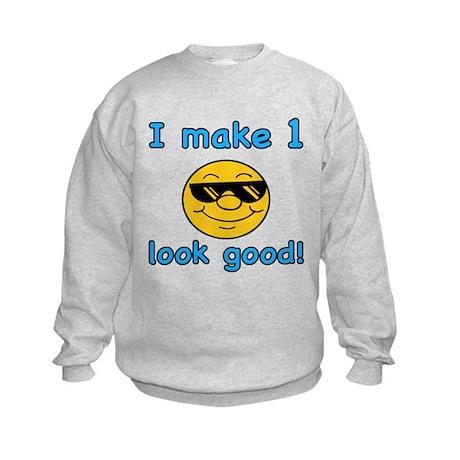 Funny 1st Birthday (Blue) Kids Sweatshirt