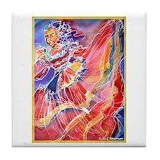 Mexican Dancer, bright, Tile Coaster