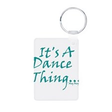 Cute Waltz Aluminum Photo Keychain
