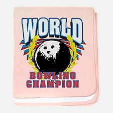 World Bowling Champion baby blanket