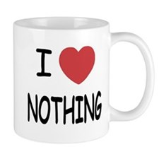 I heart nothing Mug