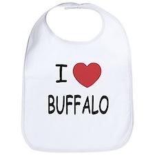I heart buffalo Bib