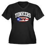 Yonkers Puerto Rican Women's Plus Size V-Neck Dark