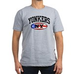 Yonkers Puerto Rican Men's Fitted T-Shirt (dark)