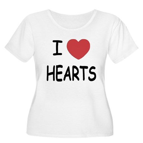 I heart hearts Women's Plus Size Scoop Neck T-Shir