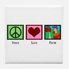 Peace Love Farm Tile Coaster