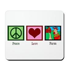 Peace Love Farm Mousepad