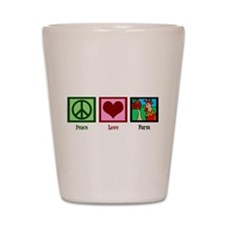 Peace Love Farm Shot Glass