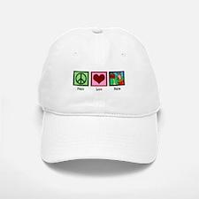 Peace Love Farm Baseball Baseball Cap
