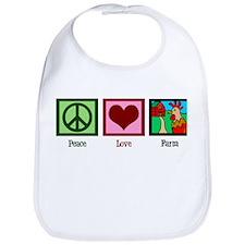 Peace Love Farm Bib