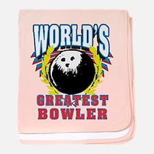 World's Greatest Bowler baby blanket